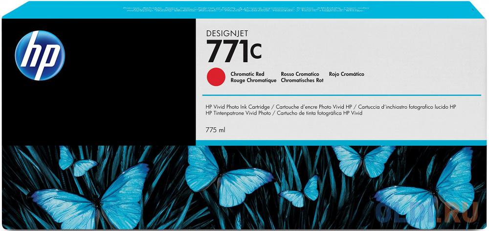 Картридж HP B6Y08A №771С для HP Designjet Z6200 красный