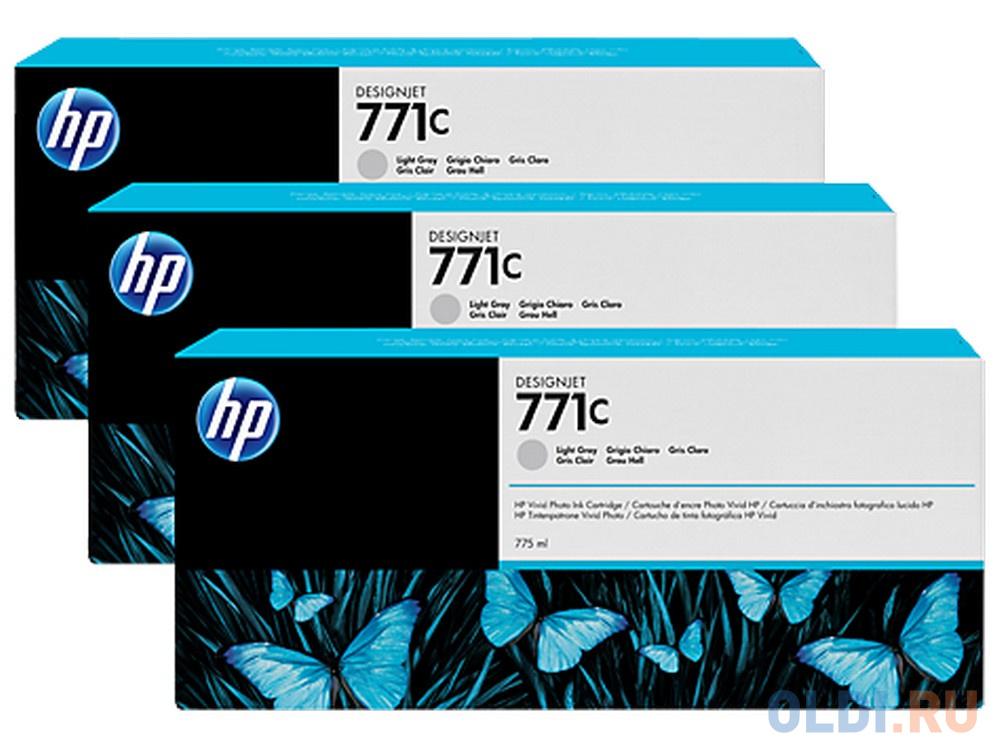 Картридж HP B6Y38A №771С для HP Designjet Z6200 серый 3шт