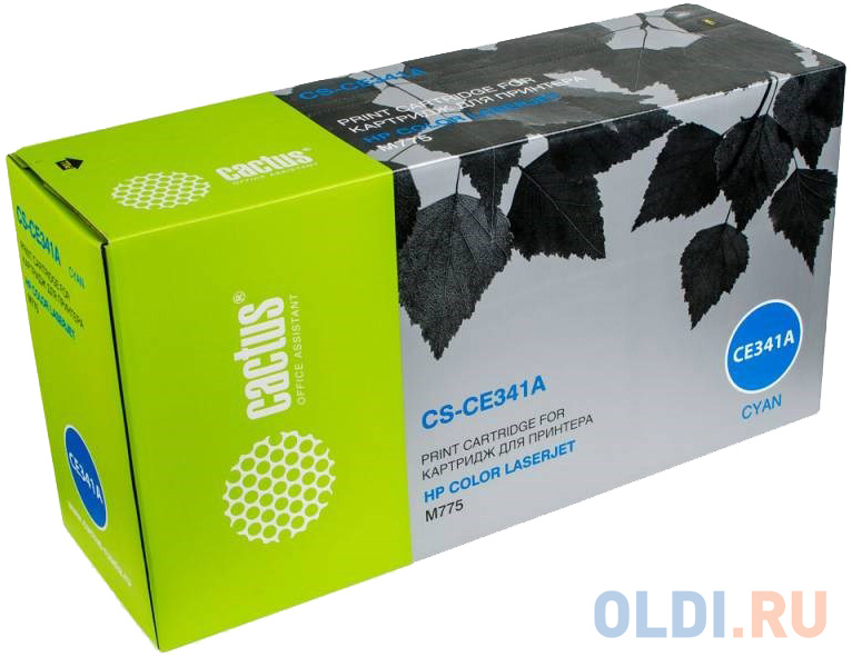 Картридж Cactus CS-CE341AV для HP CLJ M775 голубой 16000стр картридж cactus cs ce340av для hp clj m775 черный 13500стр