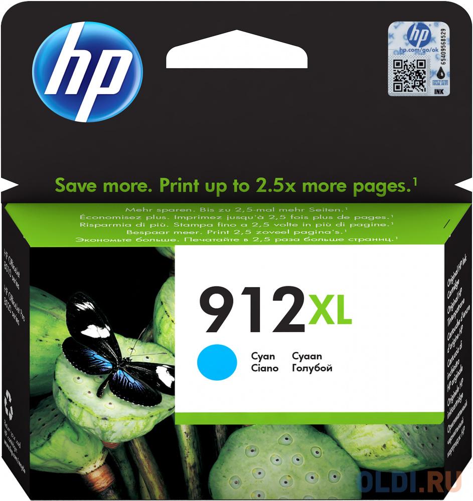 Картридж струйный HP 912 3YL81AE голубой (825стр.) для HP OfficeJet 801x/802x фото