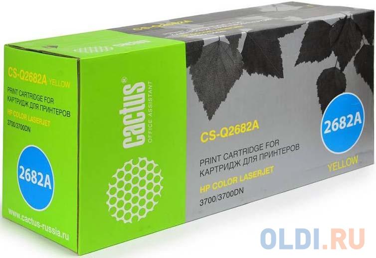 Картридж Cactus CS-Q2682AV 6000стр Желтый картридж cactus cs o610y 6000стр желтый