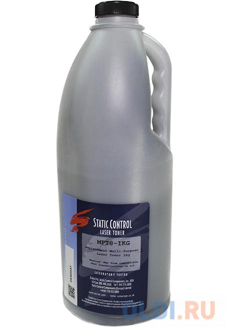 Тонер Static Control MPT8-1KG черный флакон 1000гр. для принтера HP LaserJet 5000/4100/1200 тонер static control trh1505os3 10kg черный флакон 10000гр для принтера hp ljp1505 m1120 m1522n