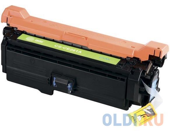 Фото - Картридж Cactus CS-CE261AV для HP LJ CP4025/CP4525/CM4540 голубой 11000стр картридж cactus cs ce262ar для hp lj cp4025 cp4525 cm4540 желтый 11000стр