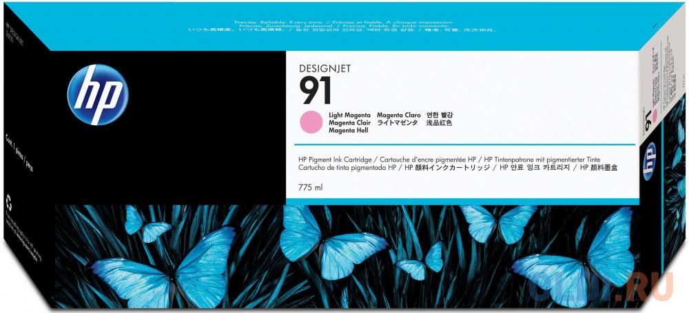 Фото - Картридж HP C9471A №91 для HP DJ Z6100 светло-пурпурный картридж hp c9485a 91 для hp dj z6100 желтый 3шт