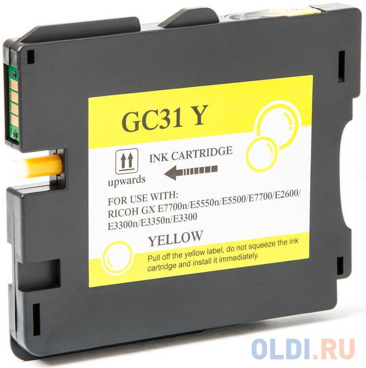 Картридж Ricoh GC 31Y 405691 для Aficio GX e2600/GX e3300N/GX e3350N/GX e5550N/GX e7700N желтый
