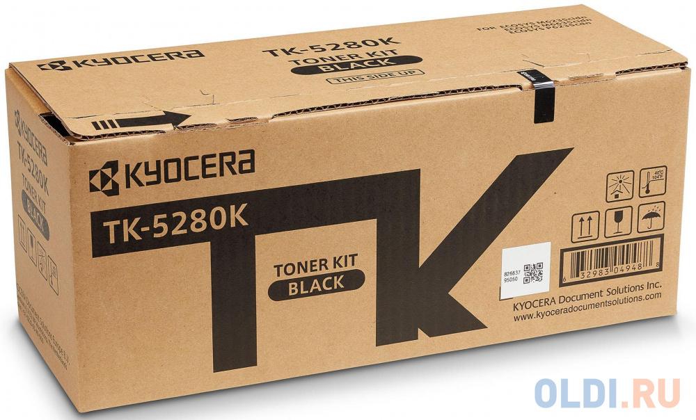 Фото - Тонер-картридж TK-5280K 13 000 стр. Black для M6235cidn/M6635cidn/P6235cdn тонер картридж kyocera tk 5290c 13 000 стр cyan для p7240cdn