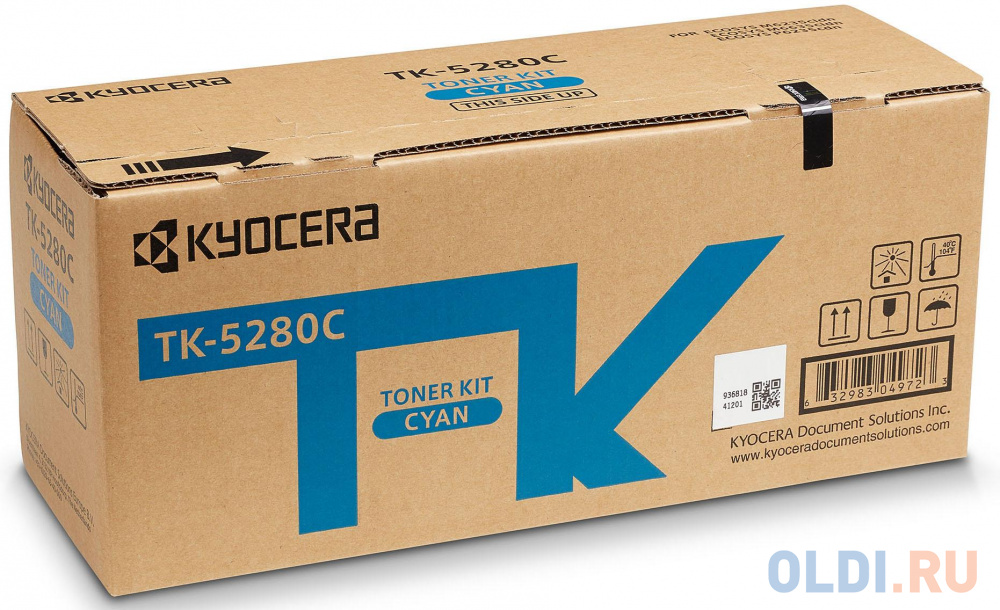 Фото - Тонер-картридж TK-5280C 11 000 стр. Cyan для M6235cidn/M6635cidn/P6235cdn тонер картридж kyocera tk 5290c 13 000 стр cyan для p7240cdn