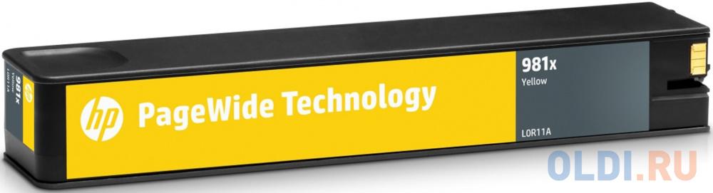 Фото - Картридж HP 981X L0R11A для PageWide 586/556 желтый 10000стр картридж hp 981y l0r16a для pagewide 586 556 черный