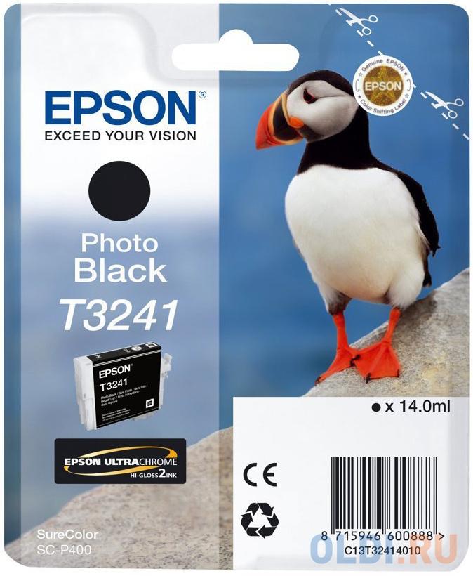 Картридж Epson C13T32414010 для Epson SC-P400 фото черный фото