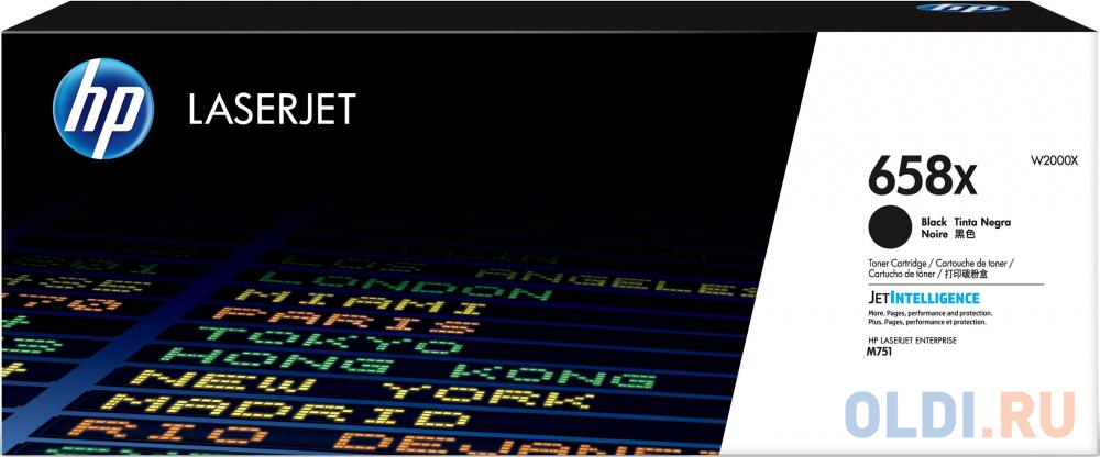 Тонер Картридж HP 658X W2000X черный (33000мл) для HP CLJ Enterprise M751