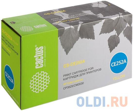 Картридж Cactus CS-CE252AR для HP CLJ CP3525/CM3530 желтый 7000стр картридж cactus cs tk5140k черный black 7000стр