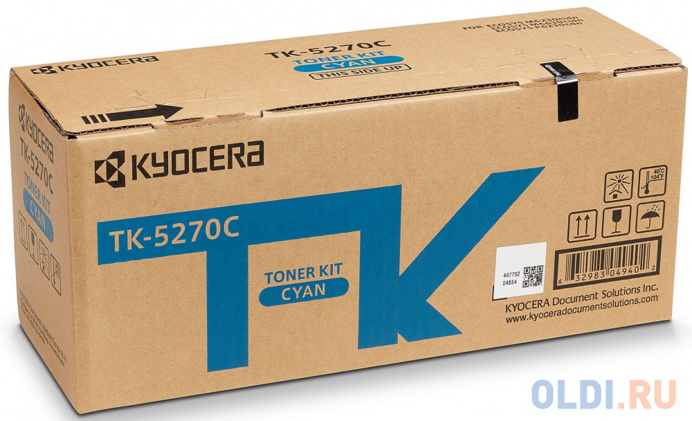 Фото - Тонер-картридж TK-5270C 6 000 стр. Cyan для M6230cidn/M6630cidn/P6230cdn тонер картридж kyocera tk 5290c 13 000 стр cyan для p7240cdn