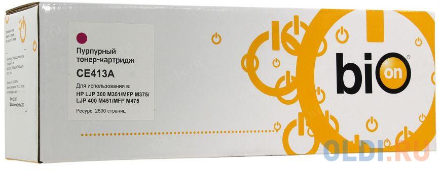 Bion CE413A Картридж для HP CLJ Pro300/Color M351/Pro400 Color/M451, Magenta, 2600 стр. [Бион]