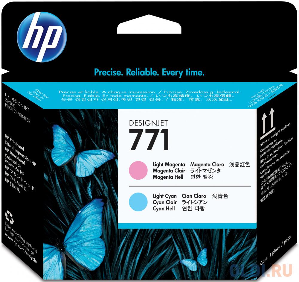 Картридж HP CE019A для DesignJet Z6200 светло-пурпурный/светло-голубой фото