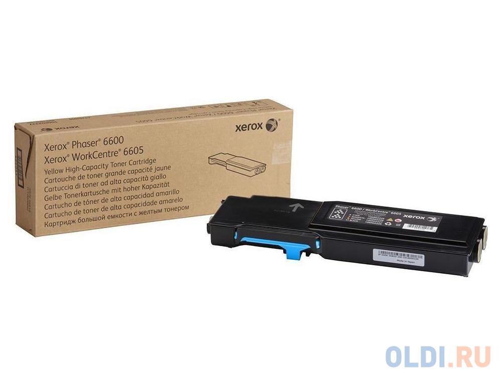 Тонер-картридж Xerox 106R02249 для Phaser 6600/WC 6605 голубой 2000стр kартридж xerox тонер 106r02249