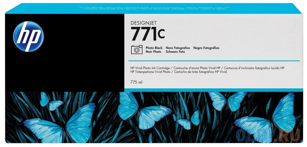 Картридж HP B6Y13A №771С для HP Designjet Z6200 черный