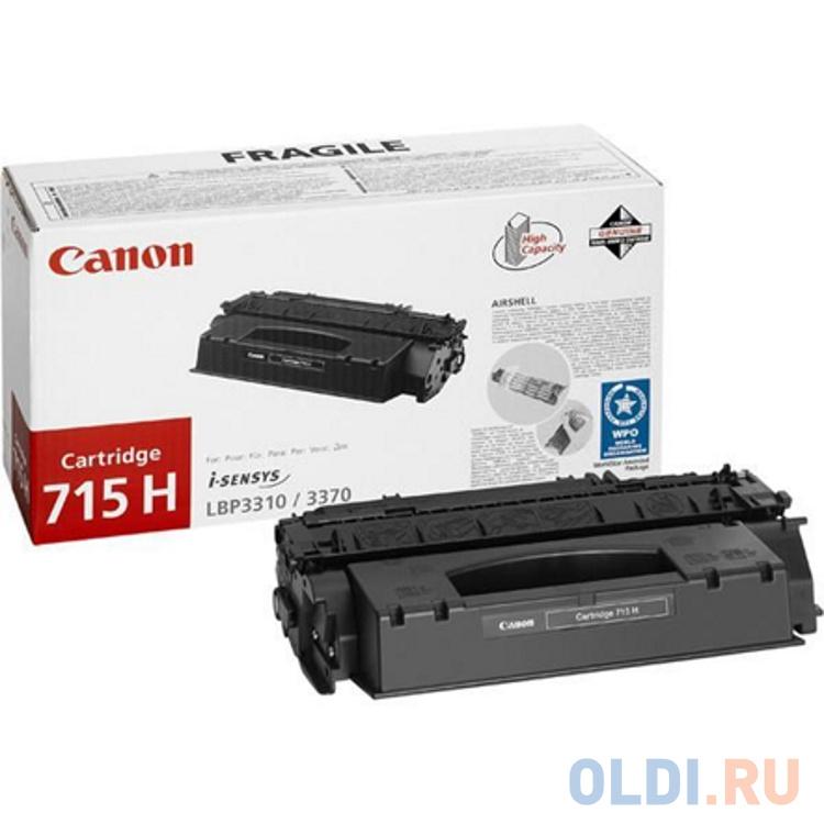 Картридж Cactus CS-C715H для Canon LBP 3310 i-Sensys 3370 i-Sensys черный 7000стр картридж cactus cs tk5140k черный black 7000стр