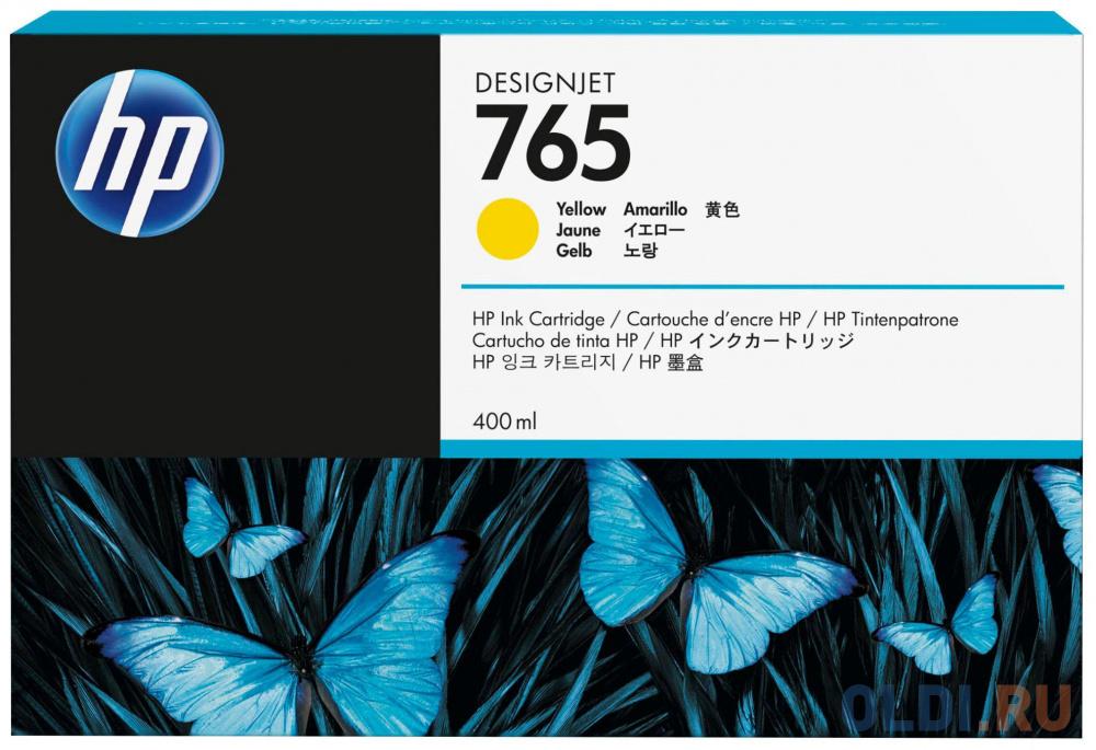 Картридж HP F9J50A №765 для HP Designjet T7200 желтый 400мл картридж hp 765 желтый [f9j50a]