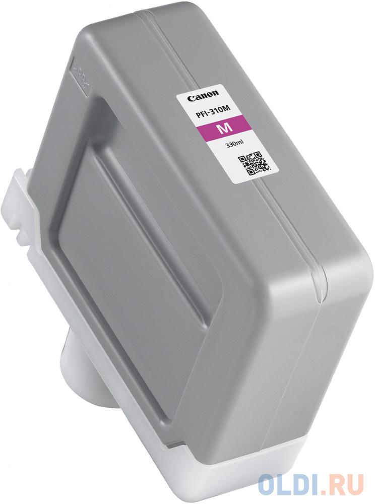 Картридж CANON PFI-310 M пурпурный, 330 мл фото