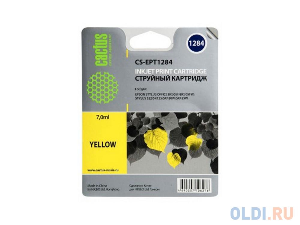 Картридж Cactus CS-EPT1284 320стр Желтый