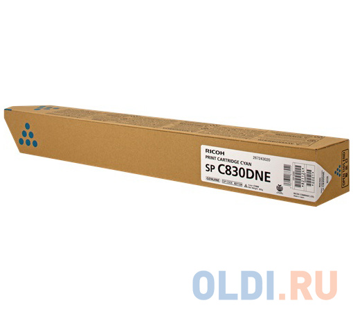 Картридж Ricoh SP C830DNE для Ricoh SP C830DN/C831DN голубой