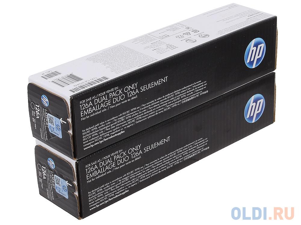 Картридж HP CE310AD (№126A) картридж hp ce310a 126a черный laserjet cp1025