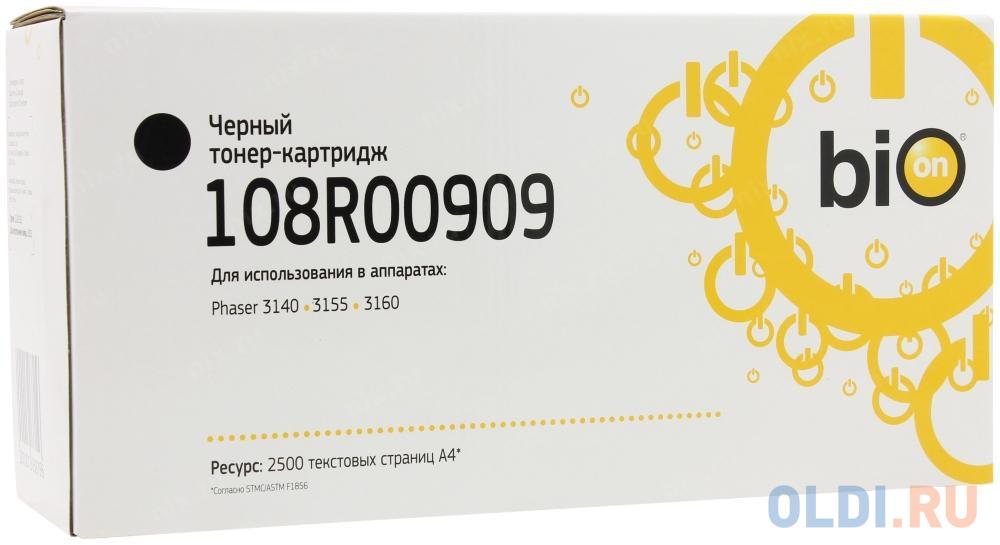 Картридж Bion 108R00909 для Xerox Phaser 3140 3155 3160 черный с чипом 2500стр