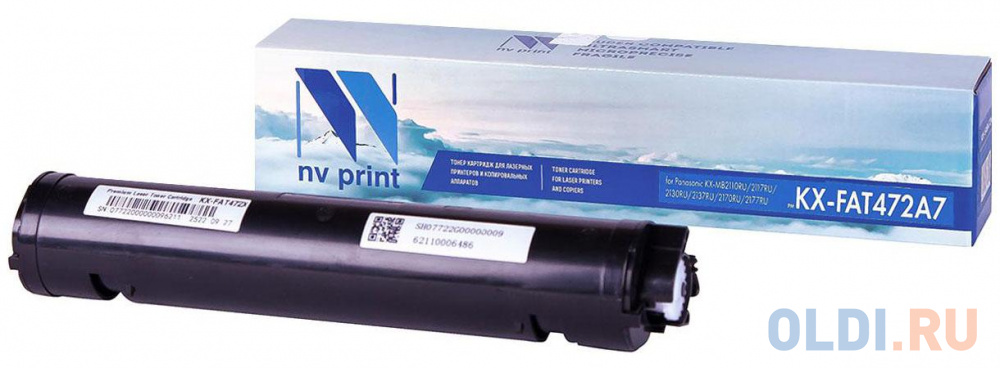 Картридж NV-Print KX-FAT472A7 для Panasonic KX-MB2110RU/2117RU/2130RU/2137RU/2170RU/2177RU черный 2000стр