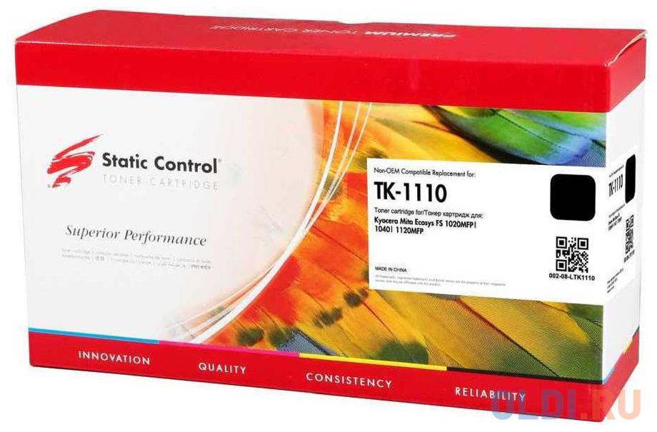 Картридж Static Control TK-1110 2500стр Черный