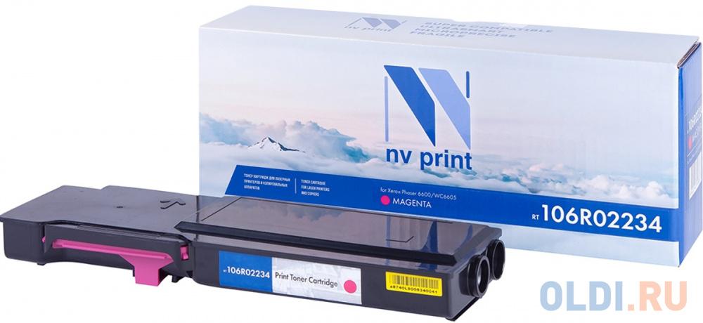 Картридж NV-Print 106R02234 6000стр Пурпурный картридж nv print ce402a 6000стр желтый