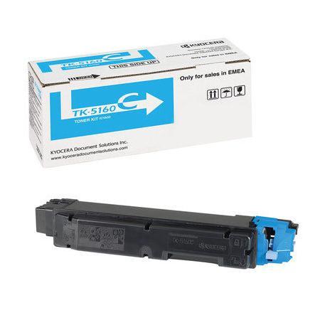 Картридж Kyocera TK-5160C для Kyocera ECOSYS P7040cdn голубой 12000стр мфу kyocera ecosys m2235dn