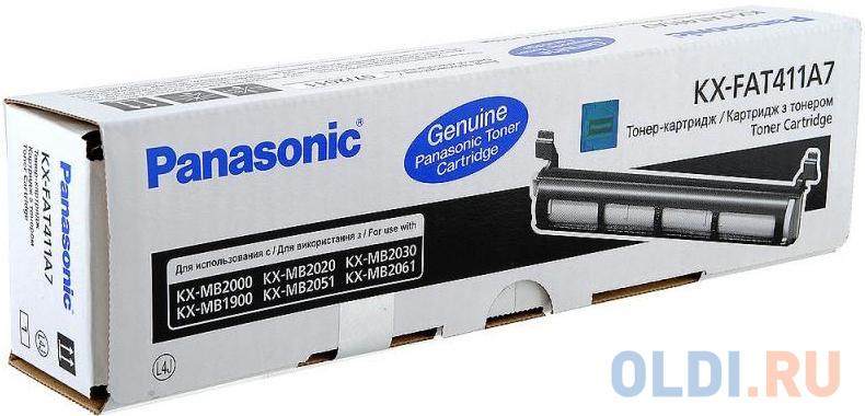Фото - Тонер-картридж Panasonic KX-FA411А для Panasonic KX-MB2000 KX-MB2020 KX-MB2030 2000стр Черный фотобарабан sakura kxfad412а для panasonic kx mb1900ru kx mb1900 kx mb2000 kx mb2000ru kx mb2010 kx mb2010ru kx mb2020 kx mb2025 kx mb2030 6000 к