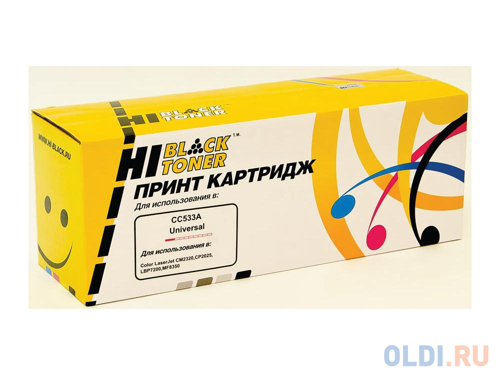 Фото - Картридж Hi-Black для HP CC533A/№718 CLJ CP2025/CM2320/Canon LBP7200 пурпурный 2800стр картридж hp cf372am для hp clj 2025 cm2320 голубой пурпурный желтый