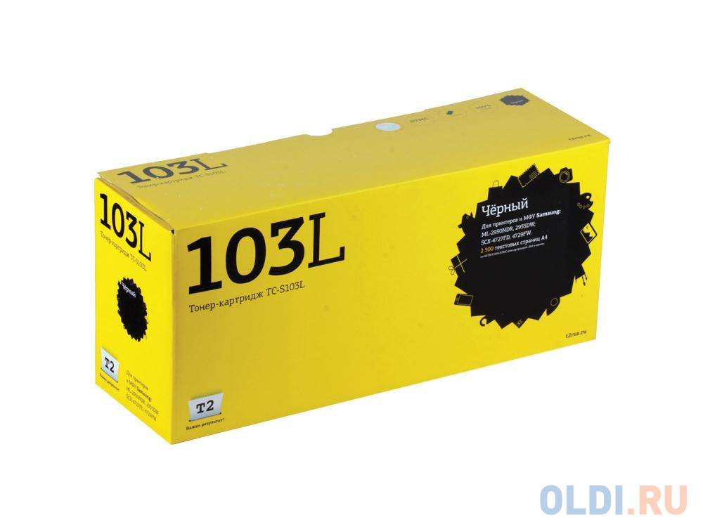 Картридж T2 TC-S103L для Samsung ML-2950NDR 2955DW SCX-4727FD 4729FW 2500стр картридж t2 tc s103l для samsung ml 2950ndr 2955dw scx 4727fd 4729fw 2500стр