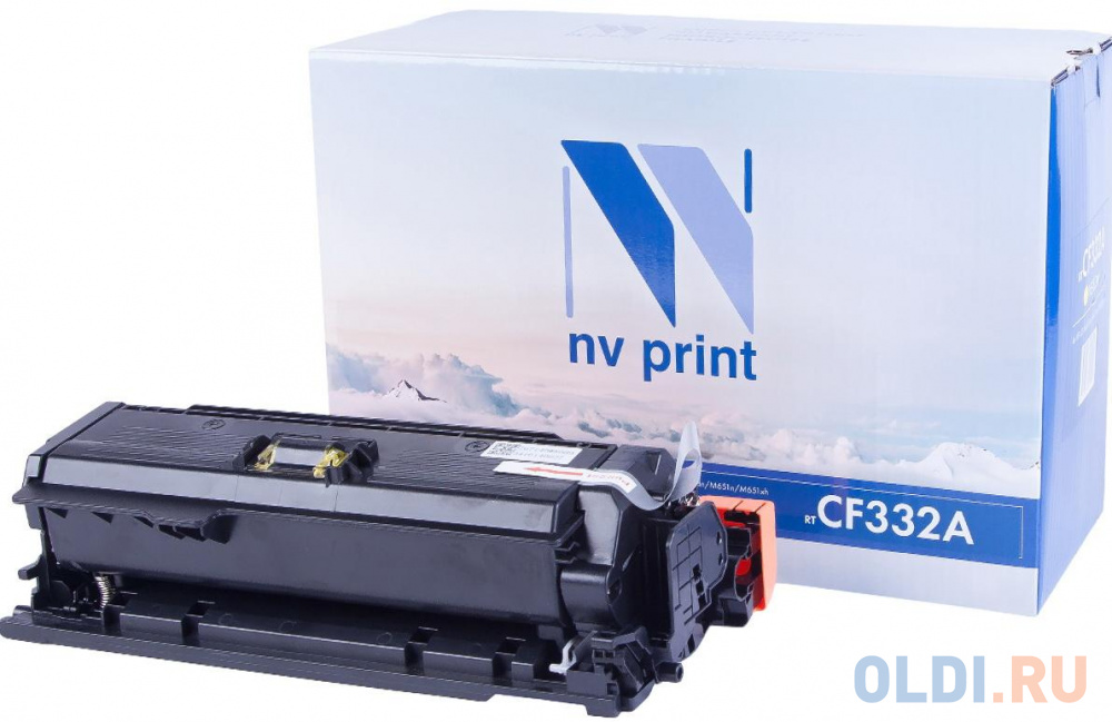Картридж NVP совместимый NV-CF332A Yellow для HP Color LaserJet M651dn/ M651n/ M651xh (15000k) картридж nv print nv cf332a