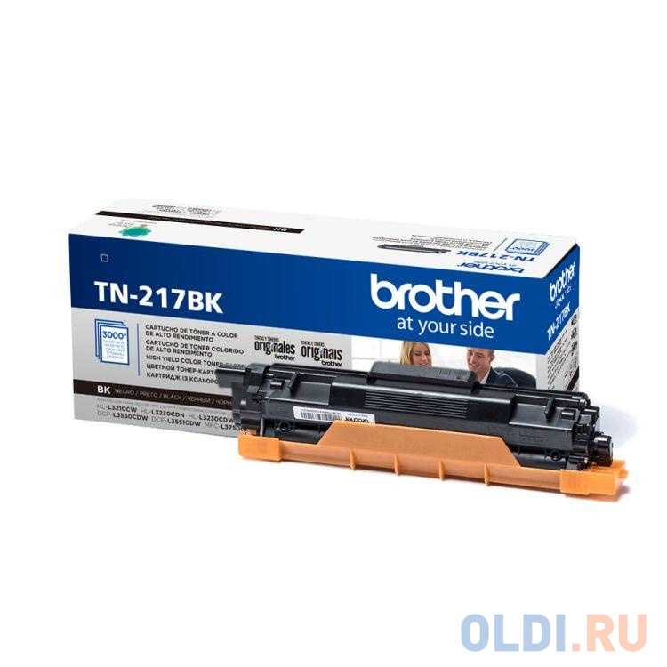 Тонер-картридж Brother TN217BK черный, для Brother HL-3230/DCP-3550/MFC-3770 (3000стр)