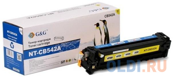 Картридж лазерный G&G NT-CB542A желтый (1400стр.) для HP CLJ CP1215/1515/CM1312 картридж hp cb540ad для hp clj cp1215 1515 1518 cm1312 черный 2 200 страниц двойная упаковка