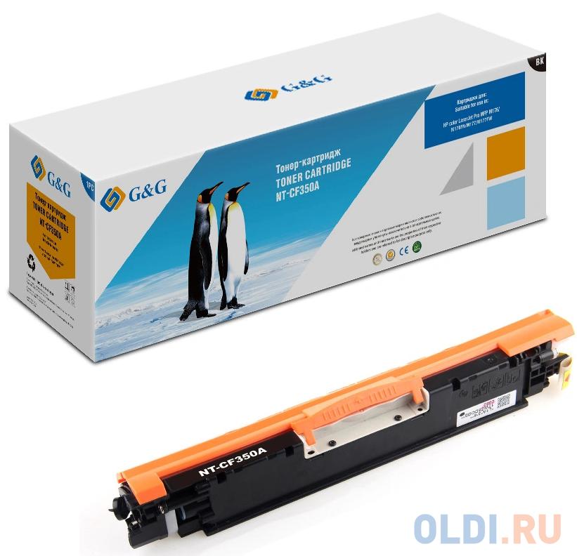Картридж лазерный GG NT-CF350A черный (1300стр.) для HP CLJ Pro MFP M176/M176FN/M177/M177FW.