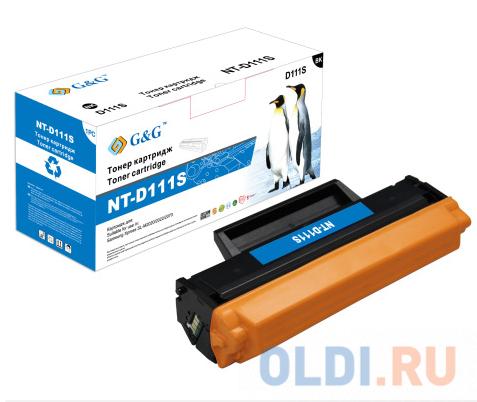 Картридж лазерный GG NT-D111S черный (1000стр.) для Samsung Samsung Xpress SL-M2020/2022/2070.