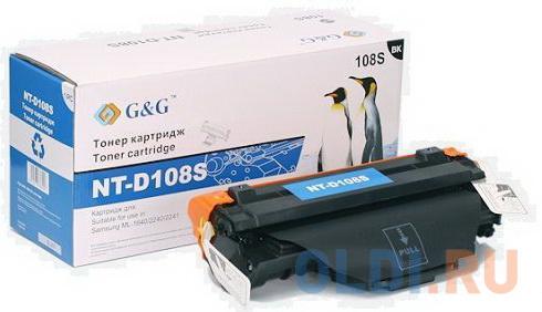 Картридж лазерный GG NT-D108S черный (1500стр.) для Samsung ML-1640/ML-16402241/1641/1645/1640XSA.