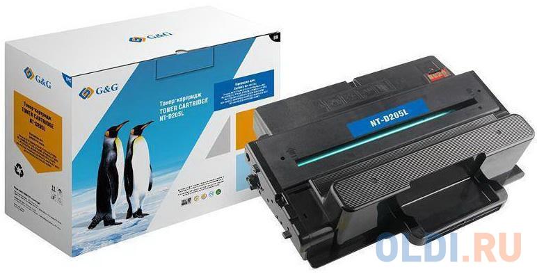 Картридж лазерный GG NT-D205L черный (5000стр.) для Samsung ML-3710ND/ML-3712DW/SCX-5639FW/SCX-5637FR.