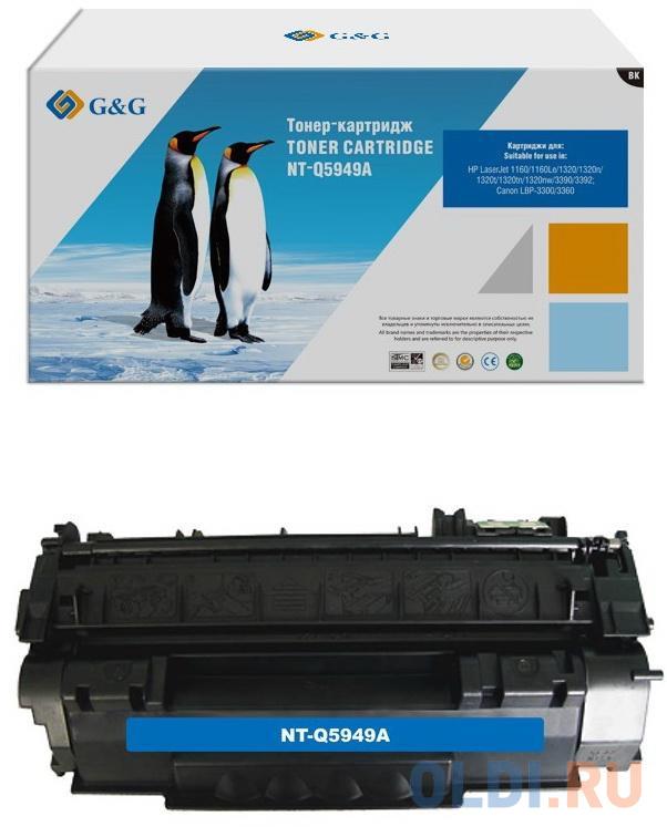 Картридж лазерный GG NT-Q5949A черный (2500стр.) для HP LJ 1160/1320/3390/3392.