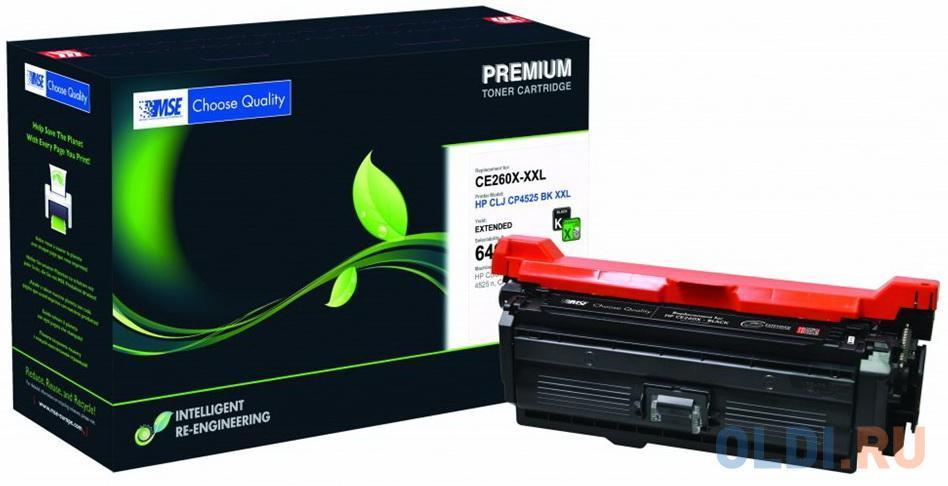 Фото - Картридж лазерный MSE CE260X 4525K-XL-MSE черный (20400стр.) для HP LJ CP4025/CP4525/CM4540 картридж лазерный mse q5949x 49x xl mse черный 6000стр для hp lj 1320 3390 3392