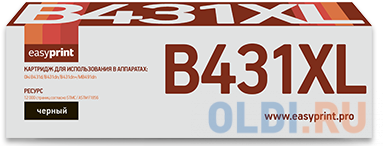 Тонер-картридж EasyPrint LO-431XL для Oki B431/B431dn+/MB491dn (12000 стр.) 44917602/44917608