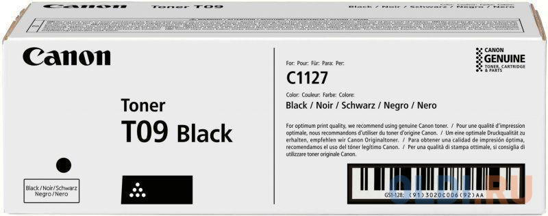 Тонер CANON T09 BK чёрный 7 600 стр
