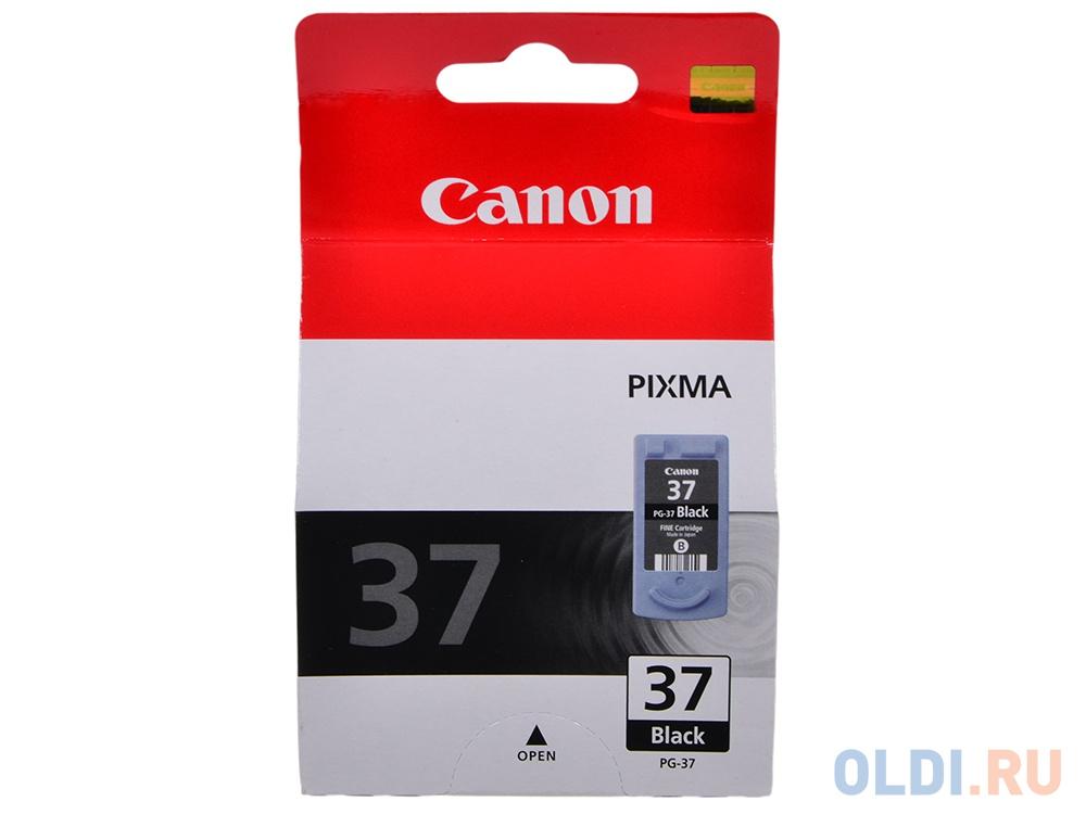 Картридж Canon PG-37 для MP470, MP220, MP210, iP2500, iP1800, iP2600, iP1900, MX310, MX300. Чёрный. 219 страниц.