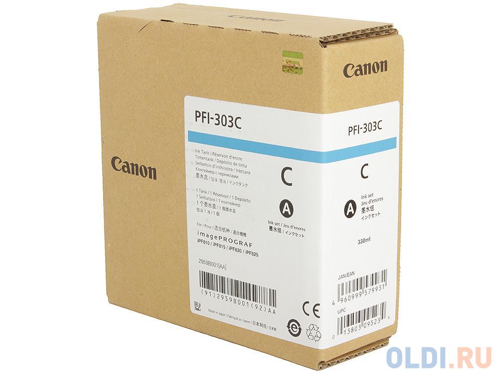 Картридж Canon PFI-303 C для iPF815 825 голубой картридж canon pfi 303 mbk для ipf815 825 черный матовый