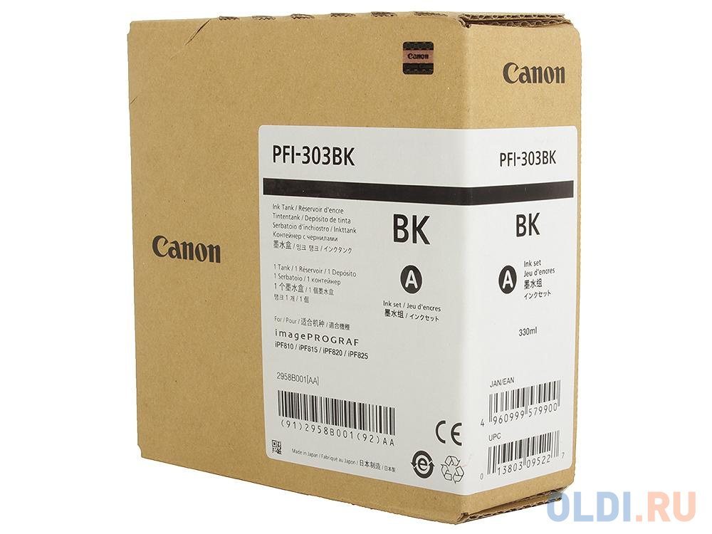 Картридж Canon PFI-303 BK для iPF815 825 черный картридж canon pfi 303 mbk для ipf815 825 черный матовый