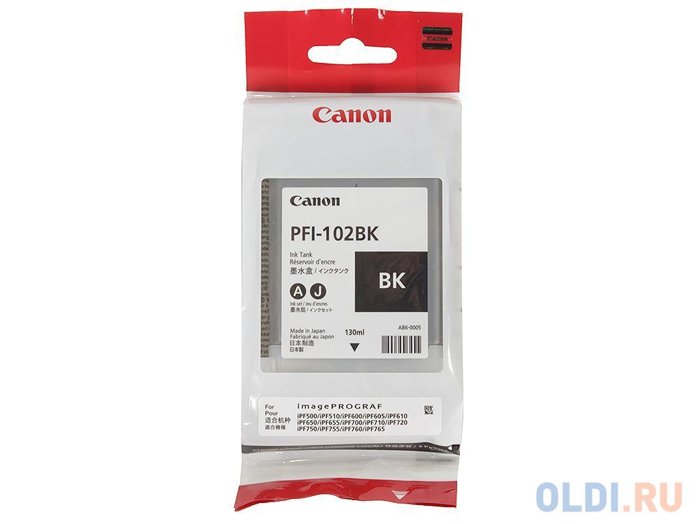 Картридж Canon PFI-102BK для Canon iPF510 605 610 650 655 750 760 765 755 LP17 200мл черный