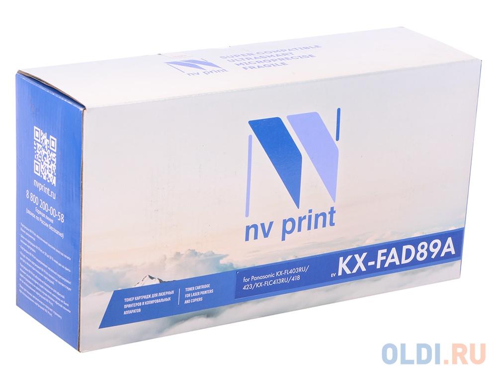 Фото - Тонер-картридж NV-Print совместимый Panasonic KX-FAD89A для KX/FL-403/413. Чёрный. 10000 страниц. картридж nv print kx fat400a7 для panasonic kx mb1500 1520 1530 1536rub